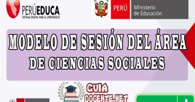 MODELO DE SESIÓN DEL ÁREA DE CIENCIAS SOCIALES - CNEB