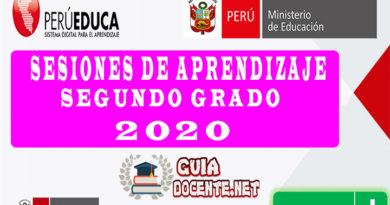 Sesiones De Aprendizaje Segundo Grado - 2020