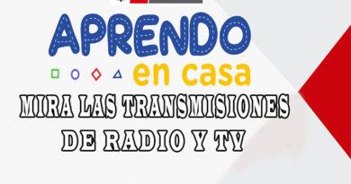 APRENDO EN CASA - Mira las transmisiones de Radio y TV