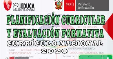 Currículo Nacional - Planificación Curricular y Evaluación Formativa