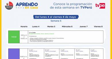 APRENDO EN CASA - Conoce la programación de la semana 5 [Del lunes 4 al viernes 8 de mayo]