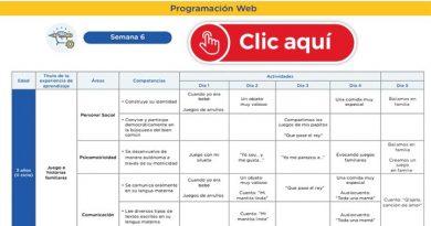 APRENDO EN CASA - Revisa aquí la programación web de la semana 6 [del 11 al 15 de mayo]