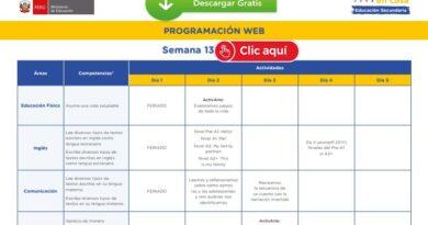 APRENDO EN CASA – Revisa aquí la programación web de la semana 13 [del 29 al 03 de julio]