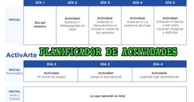 APRENDO EN CASA - PLANIFICADOR DE ACTIVIDADES - NIVEL INICIAL