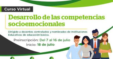 """¡Atención docentes! curso virtual """"Desarrollo de competencias socioemocionales"""""""