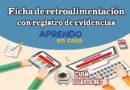 Ficha de retroalimentación con registro de evidencias - Aprendo en Casa