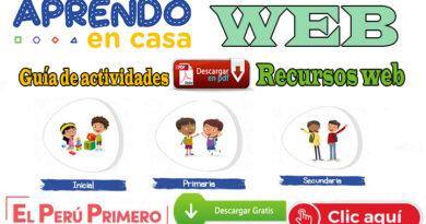 Aprendo en Casa - Semana 19 guía de actividades y recursos web del lunes 10 al viernes 14 de agosto