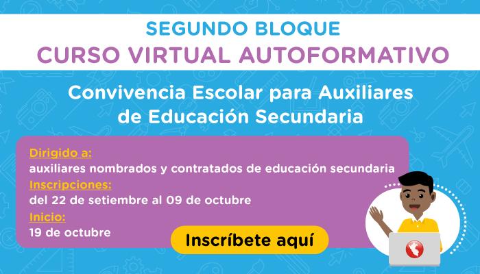 Minedu abre segunda convocatoria para el curso virtual dirigido a auxiliares