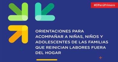 Orientaciones para acompañar a niñas, niños y adolescentes de las familias que reinician labores fuera del hogar