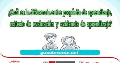 criterio de evaluación y evidencia de aprendizaje