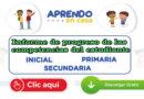 Informe de progreso de las competencias del estudiante - Aprendo en Casa