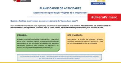 PLANIFICADOR DE ACTIVIDADES INICIAL - APRENDO EN CASA SEMANA 31
