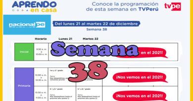 Semana 38   Aprendo en Casa Programación Radio y TV semana final del 21 al 22 de diciembre