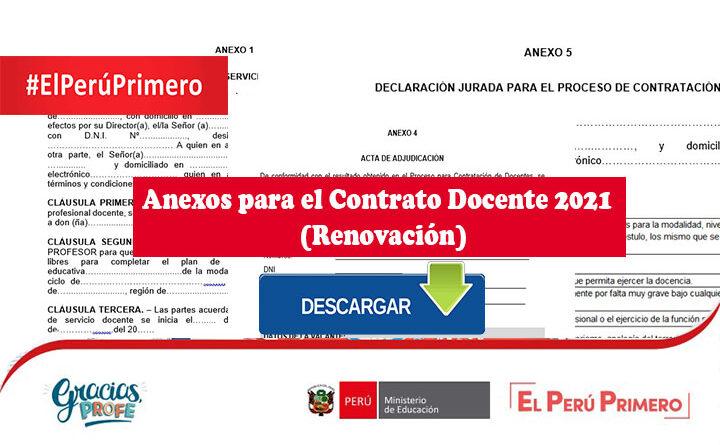 Anexos para el Contrato Docente 2021 (Renovación)