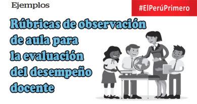 Rúbricas de observación de aula para la evaluación del desempeño docente