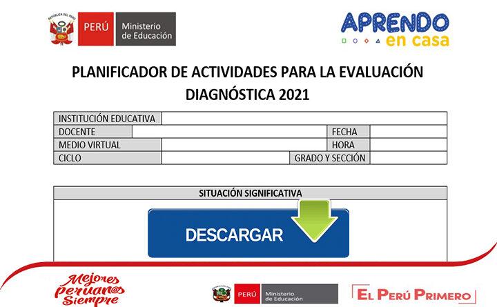 Modelo planificador de actividades para la aplicación de la evaluación diagnóstica